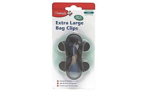 image of Clippasafe Extra Large Bag Clips- 2 Pack