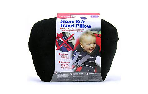 image of Clippasafe Secure-belt Travel Pillow For Cars - In Black (3-8 Yrs)