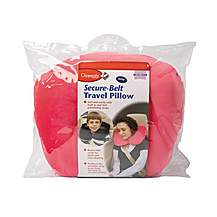 image of Clippasafe Secure-belt Travel Pillow For Cars - In Pink (8 Yrs+)