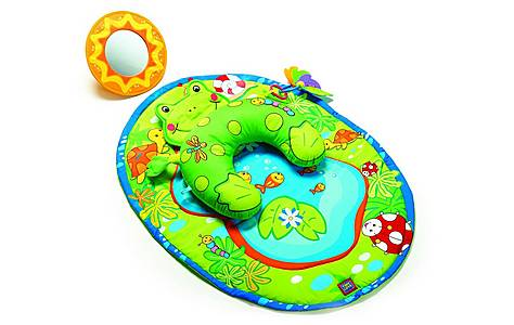image of Tiny Love Tummy Time Frog Playmat