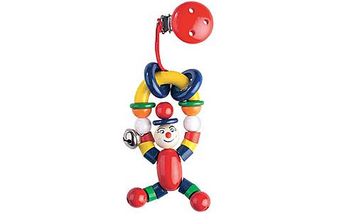 image of Heimess H766500 12cm Clip-on Toy (clown)