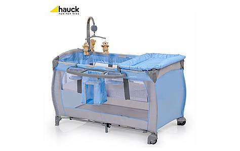 image of Hauck Travel Cot Babycenter Blue
