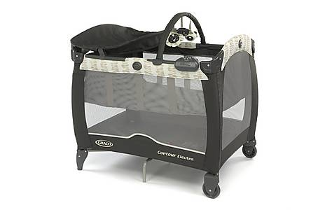 image of Graco Contour Travel Cot Electra Leaf Trail