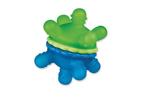 image of Munchkin Twisty Teether Ball - Blue