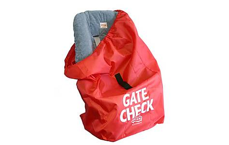 image of Jl Childress Gate Check Bag For Car Seat For Newborn And Above (red)