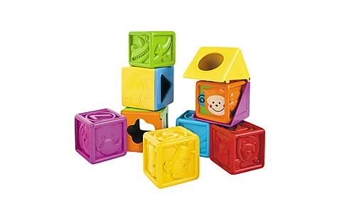 image of Bkids Soft Peek-a-boo Block Baby Toy