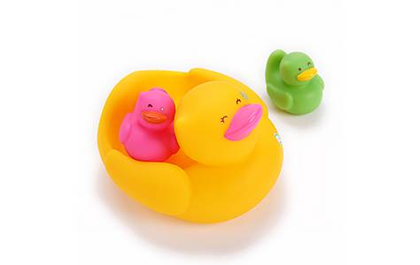 image of Bkids Bath Duck Family Baby Toy