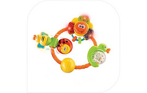 image of Bkids Rainbow Stroller Activity Baby Toy