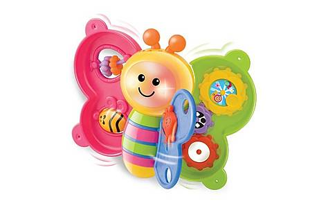 image of Bkids Lightn Sound Butterfly Book Baby Toy