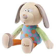 image of Chicco Happy Colours Soft Toy Dog