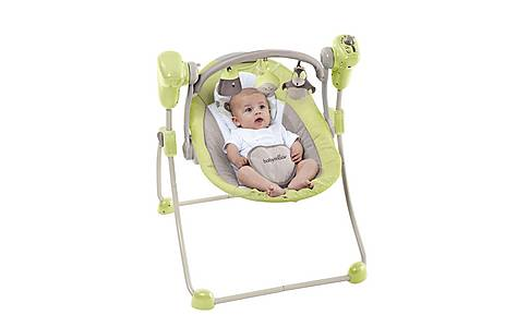 image of Babymoov Bubble Baby Swing - Almond/taupe