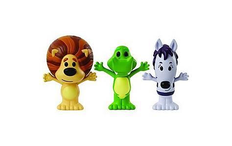 image of Tomy Raa Raa 3 Figure Set (raa Raa+crocky+zebby)