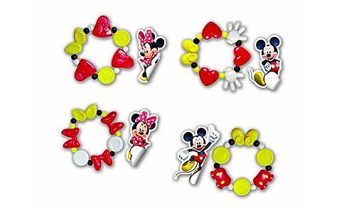 image of Disney Minnie Mouse Bracelets & Stickers Combo