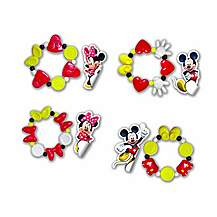 image of Disney Minnie Mouse Bracelets & Stickers Combo