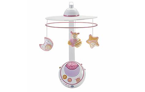 image of Chicco Magic Stars Cot Mobile - Pink