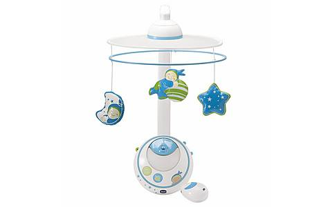 image of Chicco Magic Stars Cot Mobile - Blue
