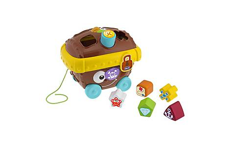 image of Chicco Pirate Chest Pull Along Shape Sorter