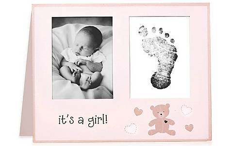 image of Lil Peach Birth Announcement Pink