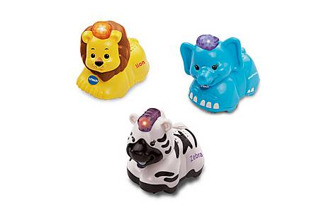 image of Vtech Toot Toot Animals 3 Pack ( Elephant, Zebra, Lion)