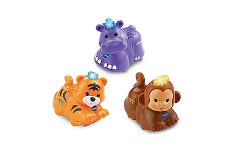 image of Vtech Toot Toot Animals 3 Pack (tiger, Hippo, Monkey)