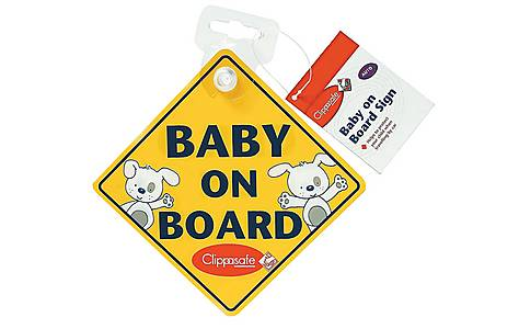 image of Clippasafe Baby On Board Warning Sign