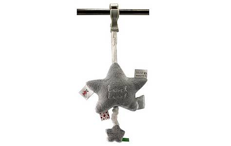 image of Label Label Musical Pullstring Toy / Grey & White
