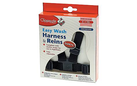 image of Clippasafe Easy Wash Harness And Rein Navy