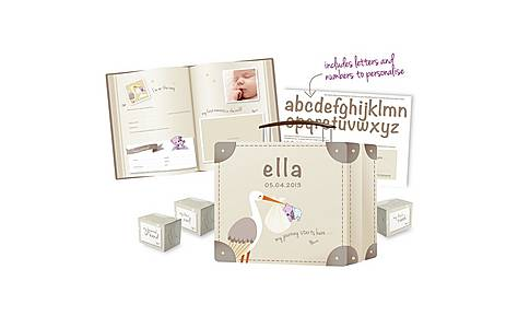 image of Clevamama Clevamemories Keepsake Suitcase And Baby Record Book