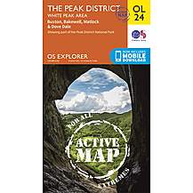 image of Os Explorer Active - 24 - The Peak District