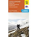 Os Explorer Leisure - Ol38 - Loch Lomond South