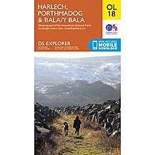 image of Os Explorer Leisure - Ol18 - Harlech, Porthmadog & Bala