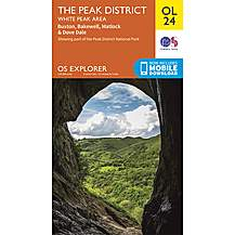 image of Os Explorer Leisure - Ol24 - The Peak District, White Peak