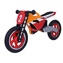 image of Kidzmotion Hondee Wooden Motorbike Balance Bike 2017 Design