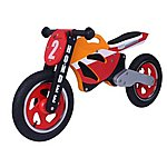 "image of Kidzmotion Hondee Wooden Motorbike Balance Bike 2017 Design - 12"" Wheel"
