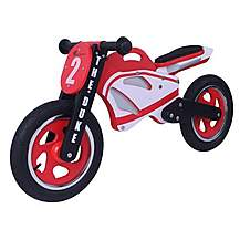 image of Kidzmotion Duke Wooden Motorbike Balance Bike 2017 Design