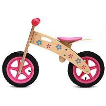 image of Kidzmotion ooowee Pink Wooden Balance Bike / First Bike / Running Bike