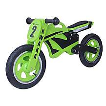 "image of Kidzmotion Kwaka Wooden Motorbike Balance Bike 2017 Design - 12"" Frame"