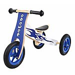image of Kidzmotion Ooowee Wooden Trike Which Converts To A Balance Bike!
