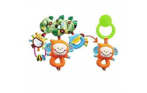 image of Bkids 3 In 1 Loopn Links Baby Toy