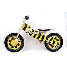 "image of Kidzmotion honey Wooden Balance Bike / First Bike / Running Bike - 11"" Frame"