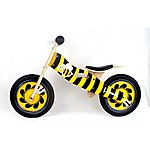 "image of Kidzmotion honey Wooden Balance Bike / First Bike / Running Bike - 11"" Frame"