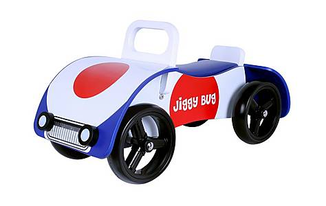 image of Kidzmotion jiggy Bug Wooden Sit On / Ride On Car