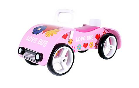 image of Kidzmotion love Bug Wooden Sit On / Ride On Car