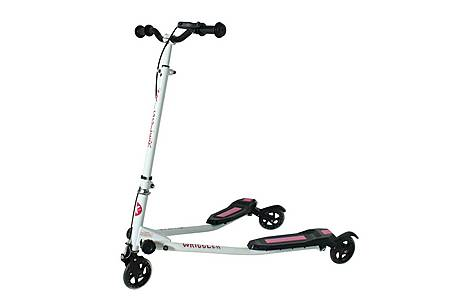 image of Kidzmotion Wriggler 3 Wheel Swing Scooter Speeder Drifter (age 5+) Pink