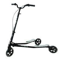 Kidzmotion Shway 3 Wheel Swing Scooter Speeder Drifter White Frame / Black Trim (14+ Years)xl