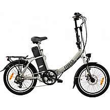 image of Freego Folding Electric Bike Silver 16aH