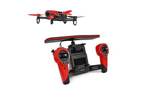 image of Parrot Bebop Quadricopter Drone Plus Skycontroller - Red