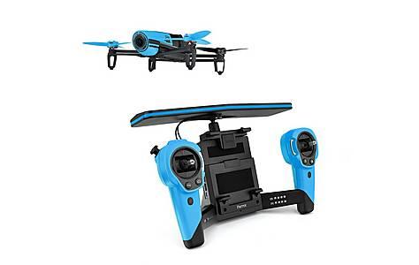 image of Parrot Bebop Quadricopter Drone Plus Skycontroller -blue