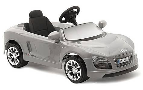 image of Audi R8 Spyder Silver Pedal Car