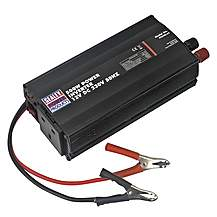 image of Sealey Pi500 500w Power Inverter 12v Dc - 230v 50hz